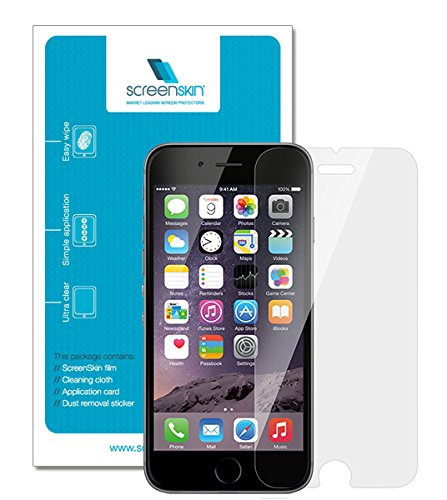 """ScreenSkin® 0.3mm Tempered Glass Crystal HD Clear Transparent Screen Protector for Apple iPhone 6 4.7"""" with 9H Surface Hardness"""