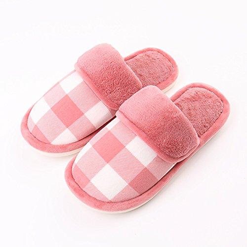 LaxBaMesdames Accueil Parole de chaussons moelleux agréable Cotton-Padded Shoeseraser 3839 semelle