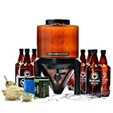 BrewDemon Craft Beer Kit Extra by Demon Brewing Company - NO SIPHON HOSE OR AIRLOCK REQUIRED Easy To Use Craft Beer Starter Kit With Reusable Conical Fermenter, Equipment and Ingredients - Make Wicked