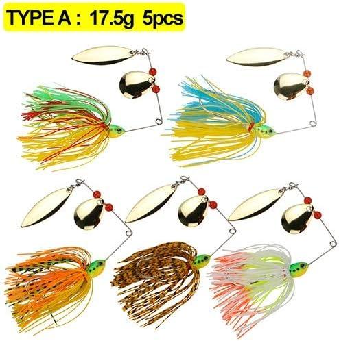 NO LOGO ZZB-Lure, 5pcs / Pack Spinner Bait señuelo de Pesca con ...