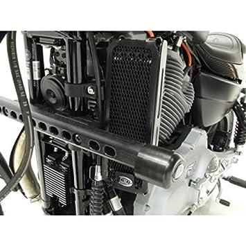 R & G Oil Cooler Radiator Guard Barbacoa Protector ocg0004bk Harley Davidson XR 1200