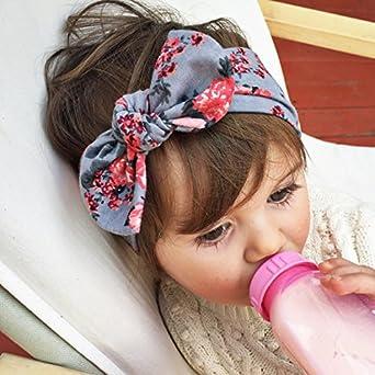 Vellette Bambino fascia Fasce di fiore della neonata Cerchietto elastico Accessori per capelli a fiori 6Pcs