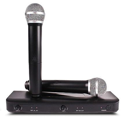 ZNHL Micrófono micrófono inalámbrico micrófono amplificación hogar Karaoke TV Amplificador de Altavoces Equipo KTV uno para