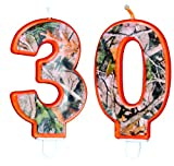 TheCamoHut Next Camo Birthday Number Candle (30)