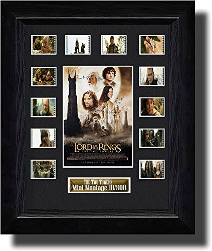 Cast Signed Lord of the Rings The Two Towers (2002) Filmcell, holographic serial numbered