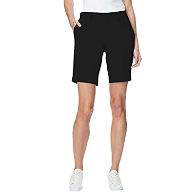 32 Degree Cool Womens Cargo Shorts, Black, Medium (8-10)