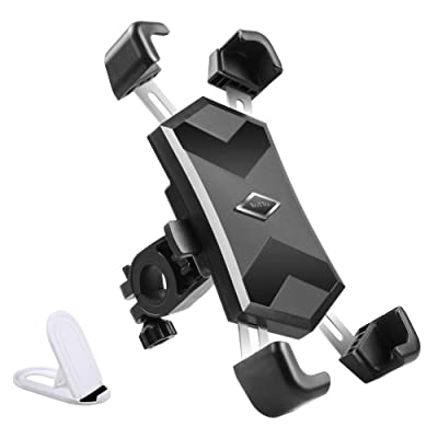 ROTTO Bike Phone Mount Motorcycle Phone Holder with Stainless Steel Telescopic Arm Quick Release and Locking Button: Sports & Outdoors