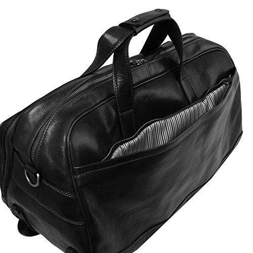 Tuscany Leather - Samoa - Sac à roulettes en cuir - Petit modèle - Miel