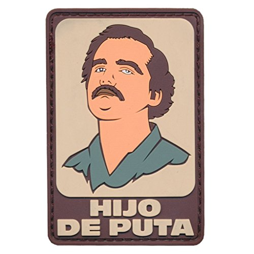 "[Single Count] Custom and Unique (2.5'' x 3'') Rectangle ""Tactical"" Pablo Escobar Narcos Embroidered Applique Patch {Tan, White, Blue, Brown Colors} [Licensed] by Patch Squad USA"