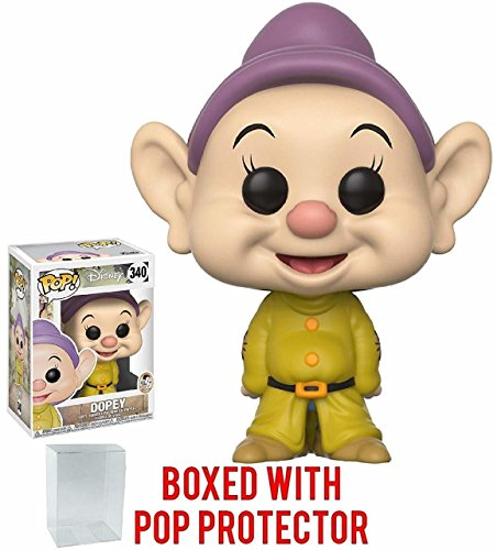 Snow White and the Seven Dwarfs Dopey Pop! Vinyl Figure and (Bundled with Pop BOX PROTECTOR CASE)