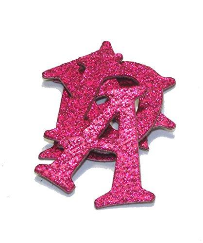 Hot Pink Metallic Glitter HandCut 1.5