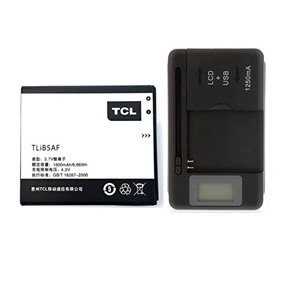 Original Alcatel / TCL Battery TLiB5AF CAB32E0000C2 For Alcatel TCL S800,  One Touch 997D, OT-997D, smart OT-5035 X'POP C5 5036D with Universal  Charger