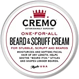 Cremo Beard & Scruff Cream, Moisturizes, Styles And Reduces Beard Itch For All Lengths Of Facial Hair, 4 Ounces