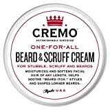 #7: Cremo Beard & Scruff Cream, Moisturizes, Styles And Reduces Beard Itch For All Lengths Of Facial Hair, 4 Ounces