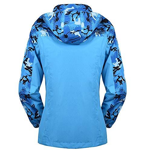 Chaqueta Outwear Hombre Impermeable azul Cáscara Mujer Deporte Cálido Capa Asalto Mujer abrigo Otoño Cachemira Abrigo Suave Invierno Darringls De dPqw5Ed