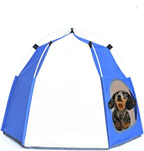 Lifeunion Dog& Cat Waterproof Tent Small Dogs Foldable Cooling House Bed for Outdoor Camping Traveling