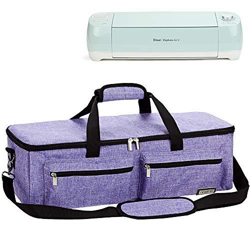 (HOMEST Carrying Case Compatible with Cricut Explore Air 2, Cricut Maker, Silhouette CAMEO3, Purple )