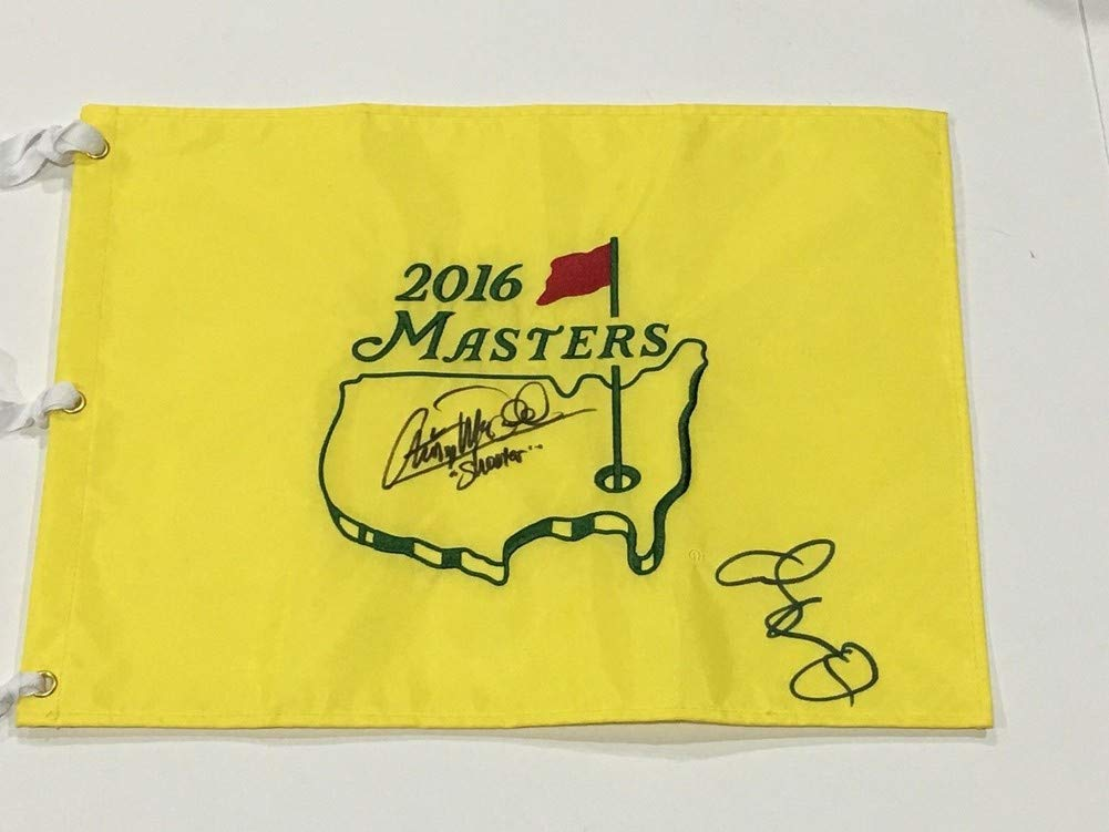 Adam Sandler Christopher Mcdonald Signed Autograph Masters Flag Happy Gilmore Shooter Sports Memorabilia JSA