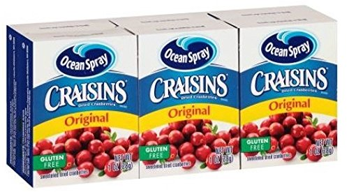 Ocean Spray Craisins, Original Cranberry, 1 oz Box, 6/Pack