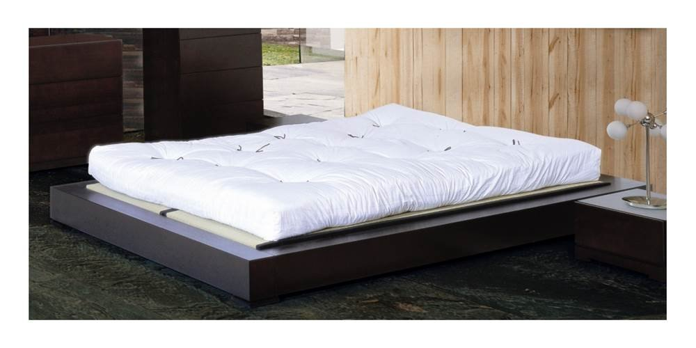amazoncom zen bed in espresso queen kitchen dining - Zen Bed Frame
