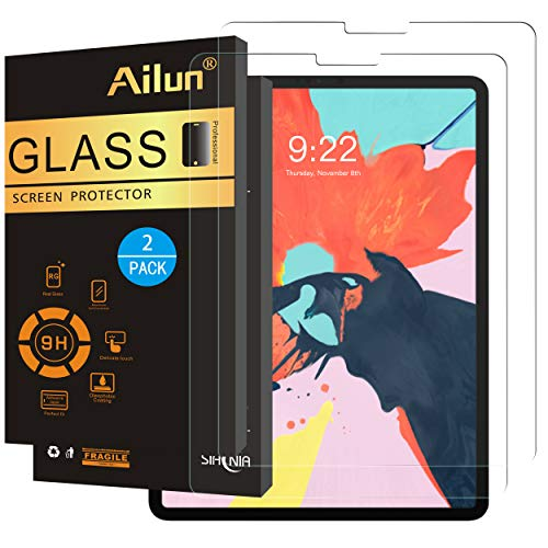 Ailun Screen Protector Compatible with iPad Pro 12.9 Inch (2018),[2Pack], 2.5D Tempered Glass,Face ID Compatible[Apple Pencil Compatible] Anti-Scratch,Case Friendly-Siania