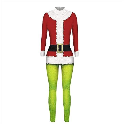 Milkktt Grinch traje de disfraz y traje de Papá Noel para disfraz ...