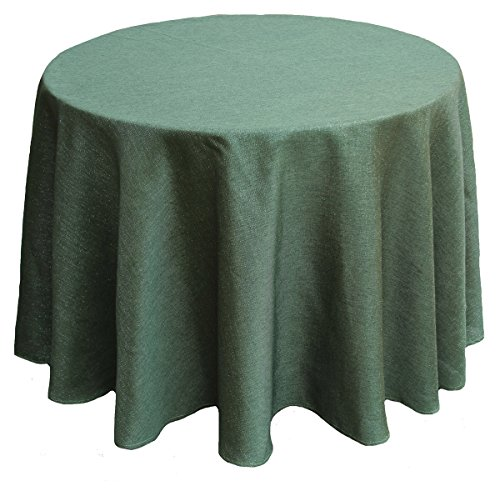 (Manor Luxe ML16617 Gala Collection Gala Glistening Easy Care Solid Color Tablecloth, 90