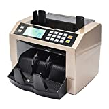 KKmoon LCD Display Automatic Multi-Currency Cash Banknote Money Bill Counter Counting Machine with UV MG Counterfeit Detector External Display Panel for EURO US Dollar AUD Pound