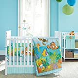 6-Pieces Disney Nemo's Reef Crib Bedding Mobile and Bumper Set