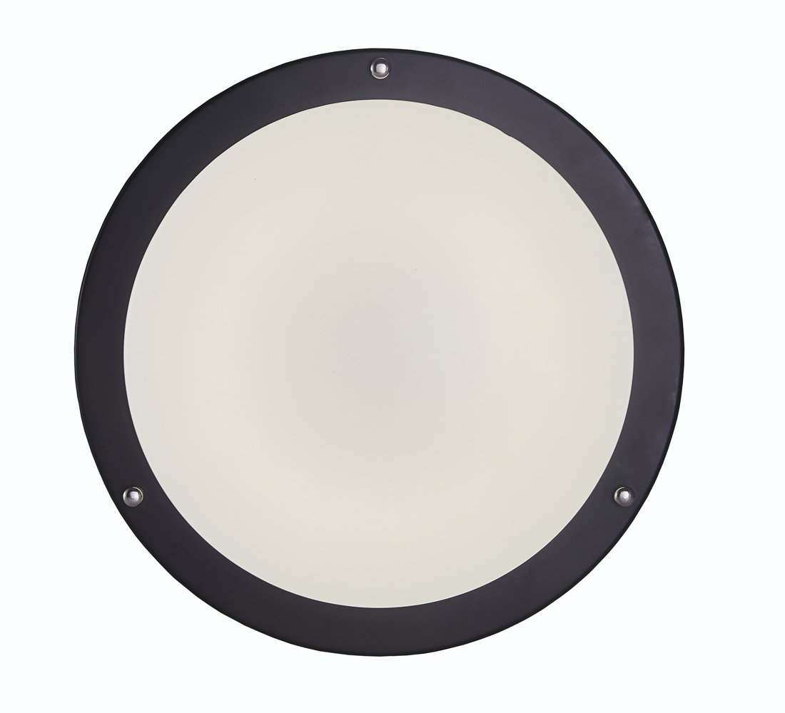 Surpars House LED Flush Mount Ceiling Light 4000K (Daylight Glow) 15W (60w equivalent),12 Inch,Black by Surpars House (Image #3)