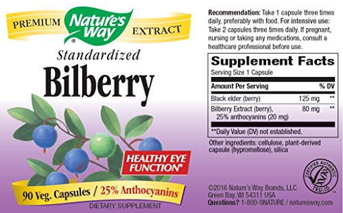 Bilberry Extract - 90 Caps [Pack of 8] by Nature's Way (Image #1)