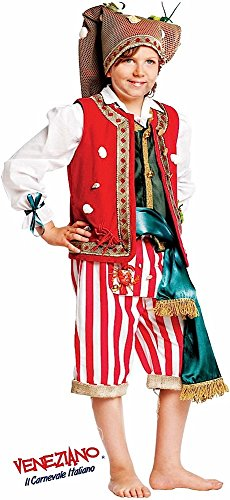 Super Deluxe Italian Made Baby + Older Boys 6 Piece Fisherman Striped Pirate Halloween Book Day Week Carnival Party Fancy Dress Costume Outfit 0-10y (6 years) -