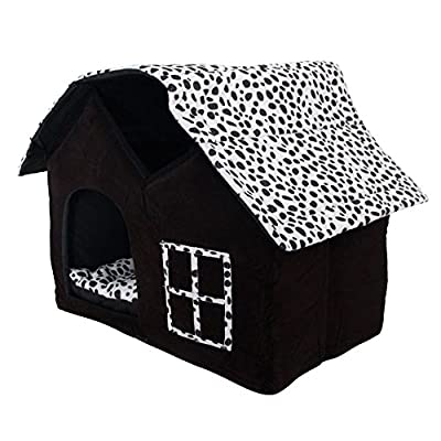 SKL Luxury High-end Double Pet House/black Dog Room Cat Bed 55 X 40 X 42 Cm