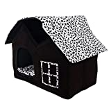 SKL Luxury High-end Double Pet House/black Dog Room Cat Bed 55 X 40 X 42 Cm For Sale