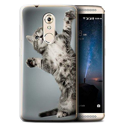 STUFF4 Gel TPU Phone Case / Cover for ZTE Axon 7 Mini / High Five Design / Cute Kittens ()