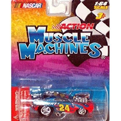 Muscle Machines Nascar's #24 Jeff Gordon Dupont Car 1:64 Scale (Muscle Machines)