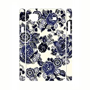 Colorful Blue and White Porcelain pattern Hard Plastic Shell Case Cover for Samsung Galaxy S I9000 Case