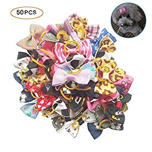 Tangser Dog Hair Bows for Dogs, Premium Hair Accessories, Hair Clips for Yorkie, Teddy