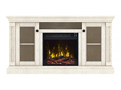 Classic Flame Foxmoor Electric Fireplace TV Stand, White Oak - 18MM7325-PO34S