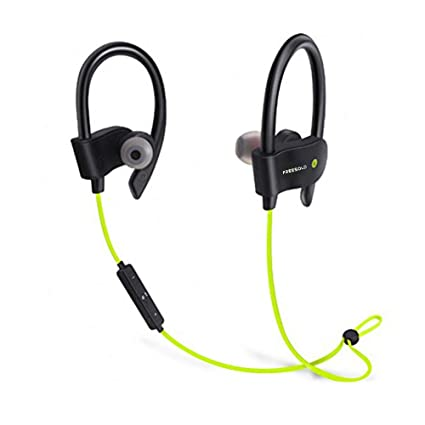 ba5b5d838b7 FREESOLO Wireless Bluetooth 4.1 In-Ear Noise-Isolating, Sport Earbuds with  Mic and