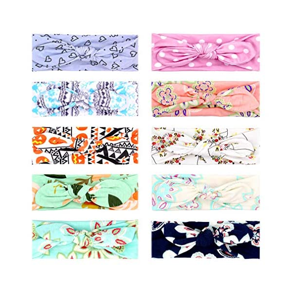 Baby Girl Headbands Knotted Headwrap Hairbands Bows Turban Accessories for Newborn Infant Toddler