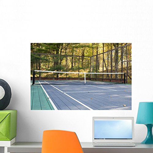 Wallmonkeys WM123854 Platform Tennis Paddle Court Peel and Stick Wall Decals (24 in W x 16 in H), Medium