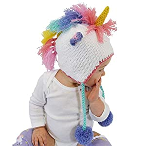 Huggalugs Baby, Toddler and Adult Unicorn Beanie Hat, Legwarmers, Pants