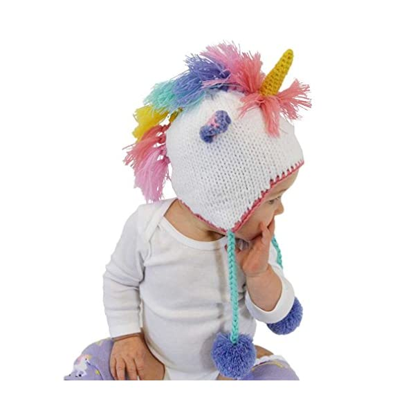 Huggalugs Baby, Toddler and Adult Unicorn Beanie Hat, Legwarmers, Pants 3