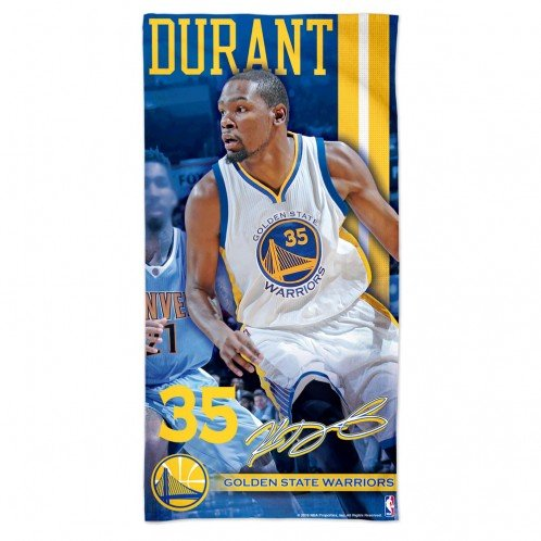 Golden State Warriors 2016 NBA Kevin Durant Official Beach Towel by Wincraft by WinCraft