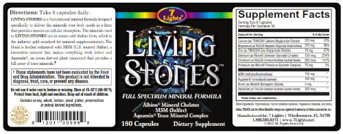 Living Stones (Chelated Minerals, MSM Sulfur Complex & Trace Minerals)