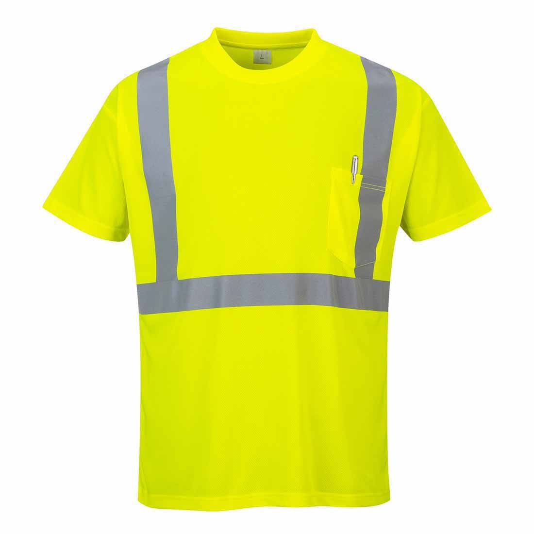4XL Portwest S190 T-Shirt con Taschino ad Alta Visibilit/à Arancione