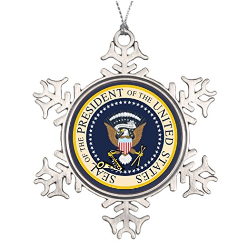 Shety Lot Ideas For Decorating Christmas Trees Bill Clinton Presidential Seal Snowman Snowflake Ornaments (Tree Christmas Presidential)