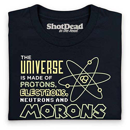 Protons And Morons Camiseta Funny Novelty Gift, Para mujer Negro