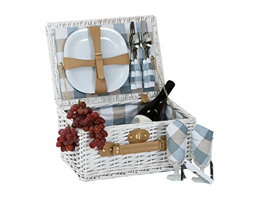 Boothbay Two person Picnic basket (White)
